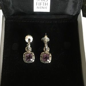 John Hardy SS Amethyst Kali Earrings